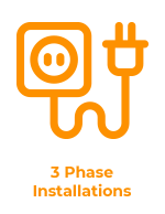 3 phase installations logo